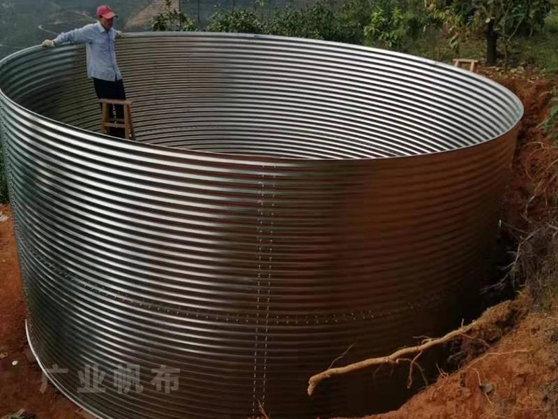 镀锌板养殖帆布鱼池